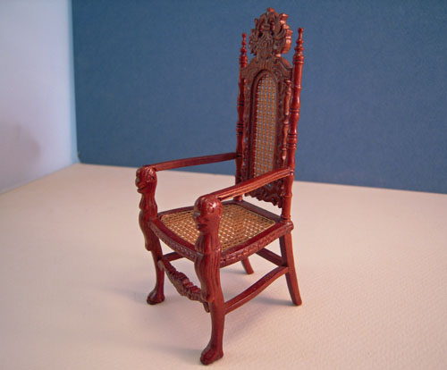 Estate Sale Platinum Collection Caned Chair 1:12 Scale