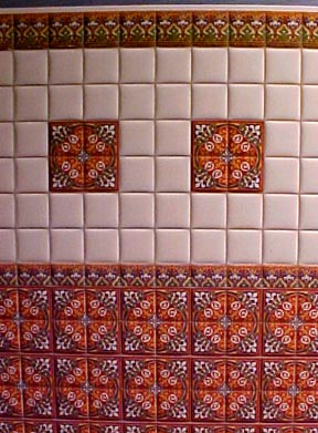 "1/2 "" Scale Miniature Spanish Wall Tile"