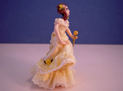 Alice With A Yellow Rose Miniature Doll 1:24 Scale