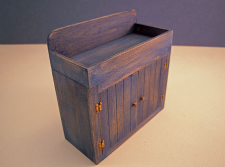 Old Time Antiqued Hand Crafted Dry Sink 1:12 scale