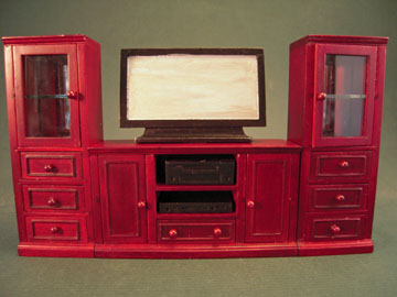 "t3683 1"" scale mahogany entertainment center"
