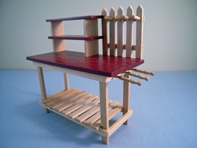 "t5986 1"" scale garden potting bench"