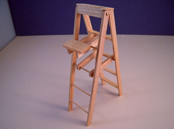 Townsquare Five Inch High Step Ladder 1:12 scale