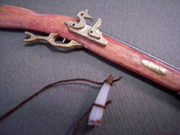 "th201 1"" scale pennsylvania flintlock rifle"