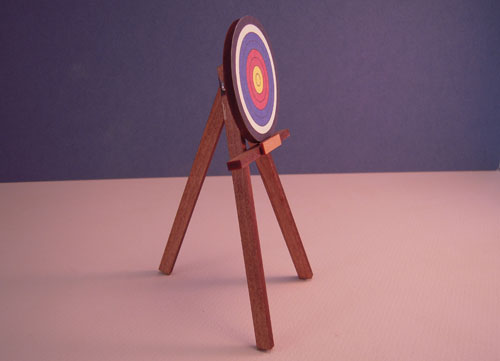Miniature Hand Crafted Terry Harville Target 1:12 scale