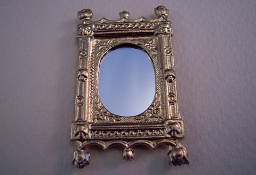 Gold Ornate Framed Mirror 1:24 scale
