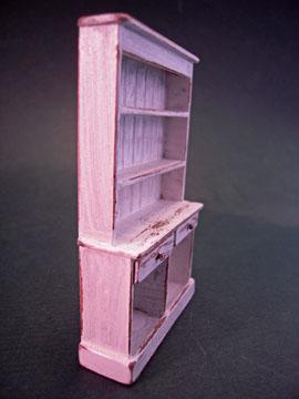 """tj20w 1/2"""" scale antique white colonial hutch"""