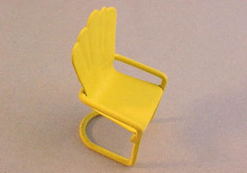 "tm048y 1/2"" scale yellow lawn chair"