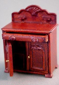 "1/2"" Scale miniature Belmont washstand by Bespaq, dimensions are  3 1/2""Lx4""Hx2 15/16""W"