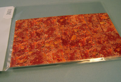 "wm24018 1/2"" scale orange amber faux marble floor tile"