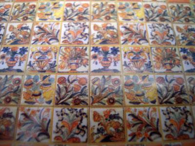"""wm24025 1/2"""" scale fiesta faux wall tile"""