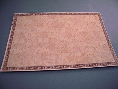 "1/2"" scale miniature white faux marble tile sheet"