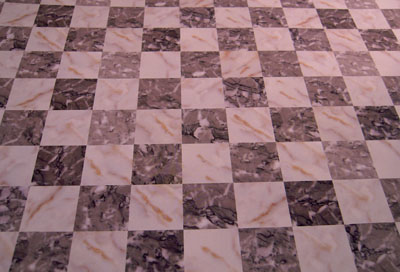 "1"" scale miniature faux gray marble tile"