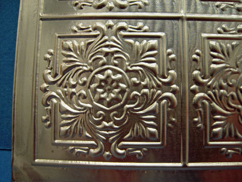 Copper Ceiling Panel 1:12 scale