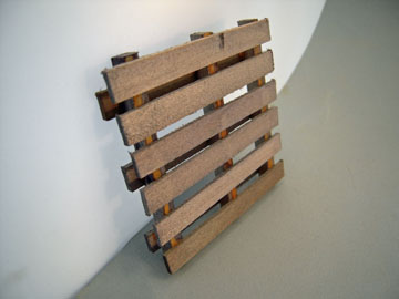 "wo520 1"" scale weathered wooden pallet"