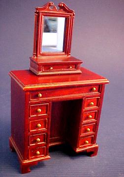 Bespaq Mahogany Fairfax Lady's Cabinet with Dressing Mirror 1:12 scale