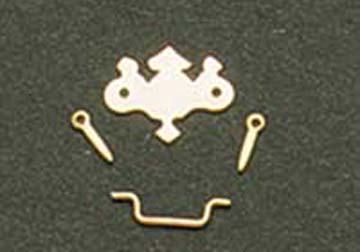 Houseworks Brass Chippendale Drawer Pulls 1:12 scale