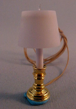 Clare Bell Brass Table Lamp 1:24 scale