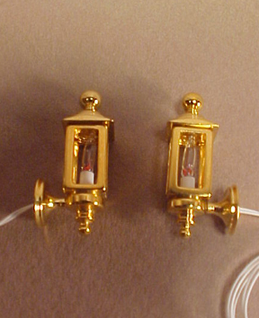 Clare Bell Brass Pair of Brass Coach Lamps 1:24 scale