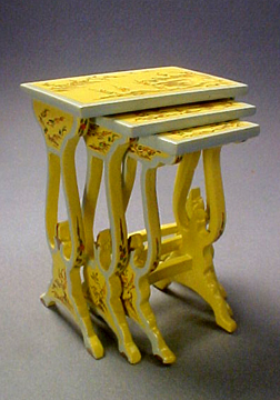 Hand Painted Bespaq Nesting Tables 1:12 scale