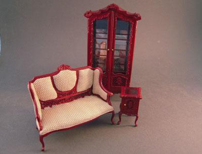 Miniature Bespaq Marcee Sofette Set 1:12 scale