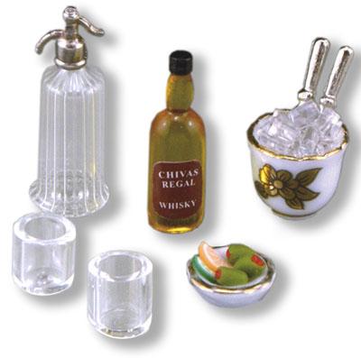 Reutter Porcelain Whiskey Serving Set 1:12 scale