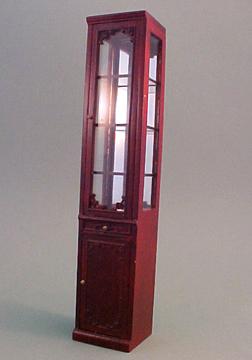 Bespaq Mahogany Emporium Single Display Case 1:12 scale