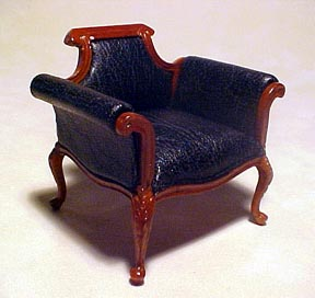 Bespaq Walnut Shoe Department Chair 1:12 scale