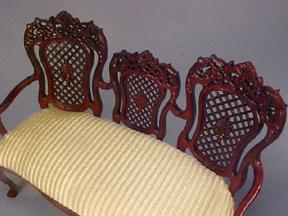 Bespaq Armorial Pierced Sofa 1:12 scale