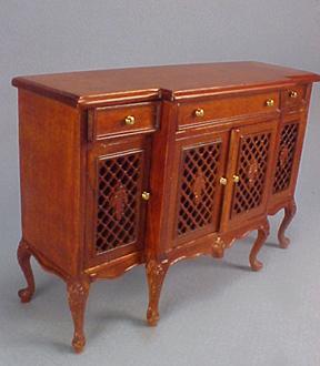 Bespaq Armorial Pierced Display Cabinet 1:12 scale