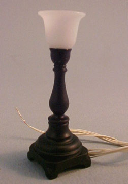 Black Torchiere Table Lamp 1:12 scale