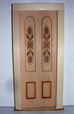 Alessio Miniatures Engraved Panel Exterior Door 1:12 scale