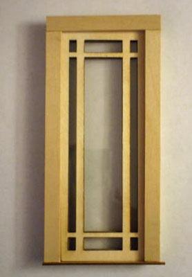 Alessio Miniatures Prairie Single Full Glass Exterior Door 1:12 scale