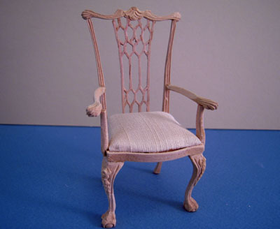 Bespaq Unfinished English Secretary Chair 1:12 scale