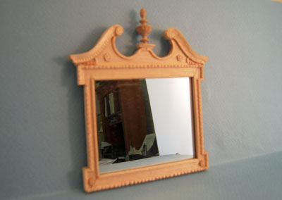 Bespaq Unfinished Fireplace Wall Mirror 1:12 scale