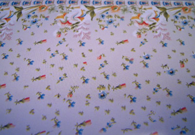 World Model Floral Border Wallpaper 1:24 scale
