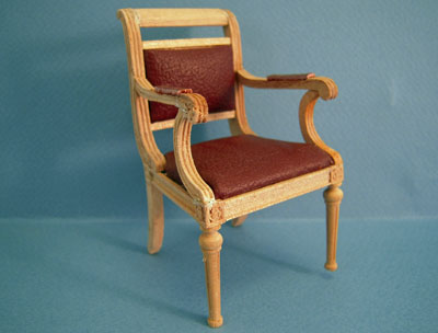 Bespaq Unfinished Regency Desk Chair 1:12 scale