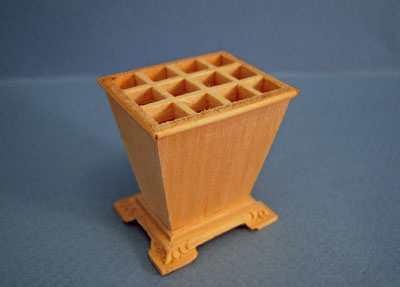 Bespaq Miniature Unfinished Document Container 1:12 scale