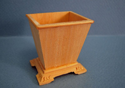 Bespaq Miniature Unfinished Waste Basket 1:12 scale
