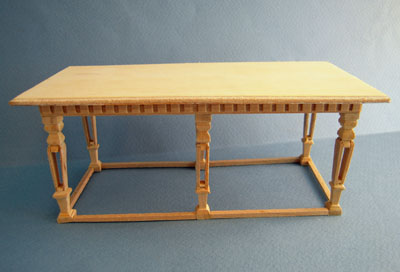 Bespaq Unfinished Dutch Dining Table 1:12 scale