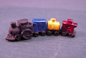 Island Crafts Metal Colorful Toy Train with Three Cars 1:12 scale