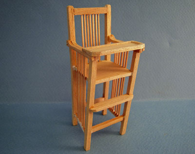 Bespaq Unfinished Mission High Chair 1:12 scale