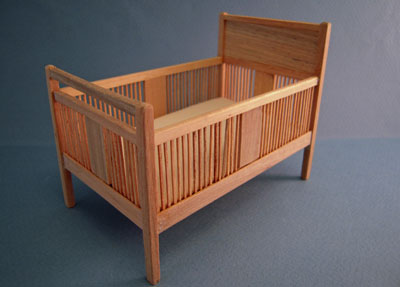 Bespaq Mission Unfinished Crib 1:12 scale
