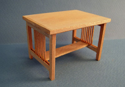 Bespaq Mission Unfinished Nursery Child's Work Table 1:12 scale