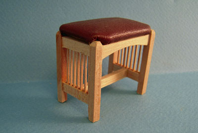 Bespaq Unfinished Mission Style Bed Stool 1:12 scale