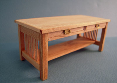 Bespaq Unfinished Mission Style Coffee Table 1:12 scale