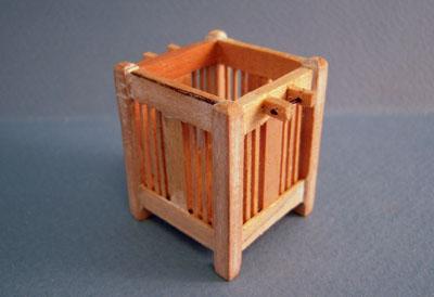 Bespaq Unfinished Mission Style Waste Basket 1:12 scale
