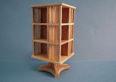Bespaq Unfinished Mission Style Revolving Bookcase 1:12 scale