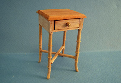 Bespaq Unfinished Chair Side Table 1:12 scale