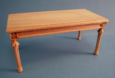 Bespaq Louis XVI Unfinished Coffee Table 1:12 scale